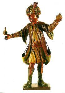 N. N. | KA L 46 Allegorische Figur (Kleinasien?) aus der ehem. Hofapotheke Kempten | Orientale im Habit des Osmanischen Reiches | Holz, gefasst