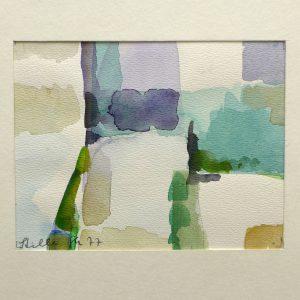 Gertrude Mendler (* 1930 Legau) | Stille | Aquarell, bez./sign./dat. (1977)
