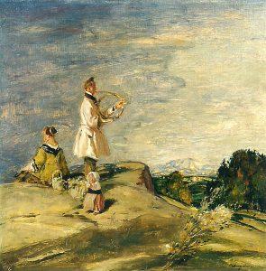 Adolf Hengeler (* 1863 Kempten – † 1927 München) | KA L 8 Ständchen des Hornisten | Öl auf Hartfaserplatte, sign.
