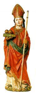 Meister des Imberger Altars (Zwischen 1479 und 1498 in Kempten tätig) | KA L 18 Hl. Nikolaus | Holz, gefasst
